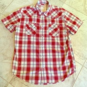 Men's Aeropostale Snap Up shirt Size Medium